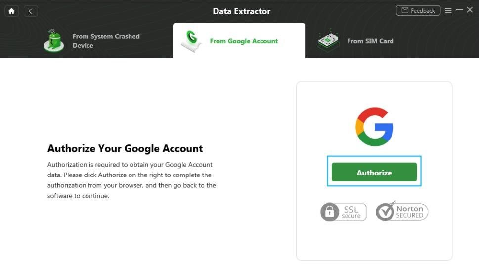Authorize Your Google Account