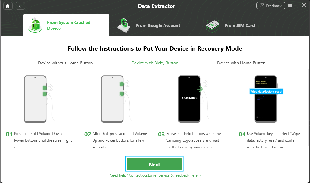 Put Your System Crashed Device into Recovery Mode