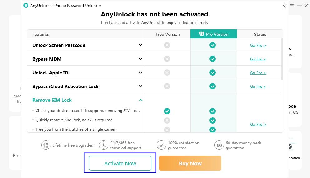 Click Activate Now Button