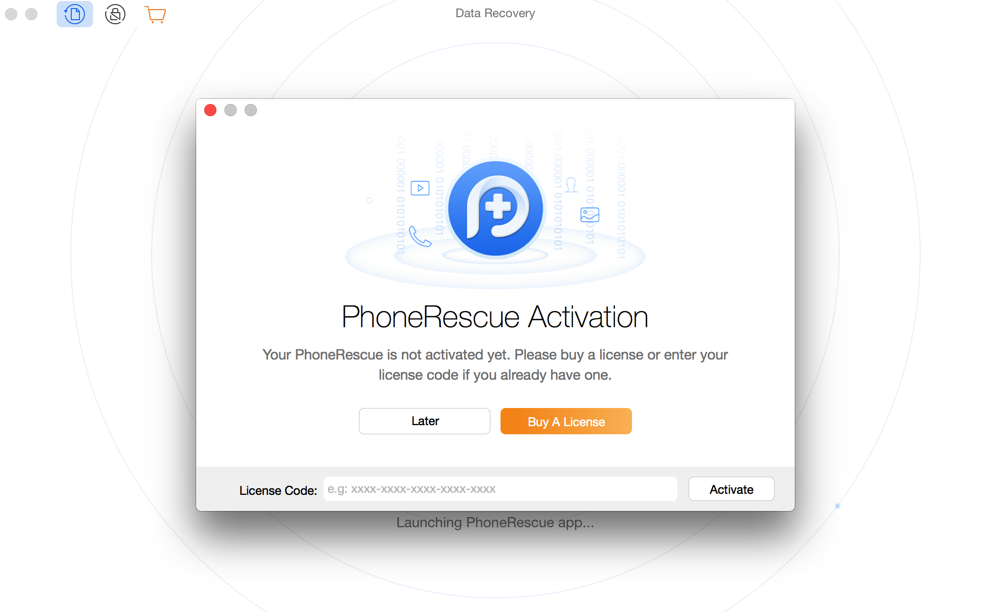 Activating PhoneRescue for Android