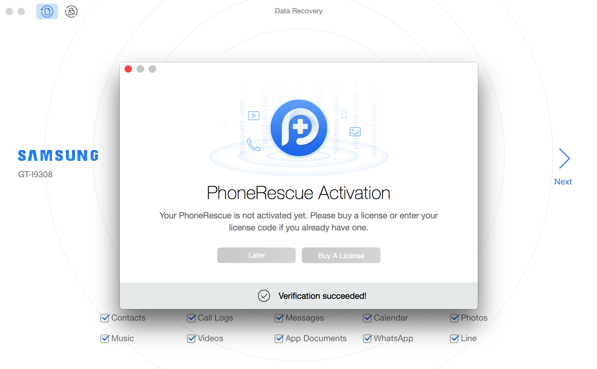 Succeed in Registering PhoneRescue for Android