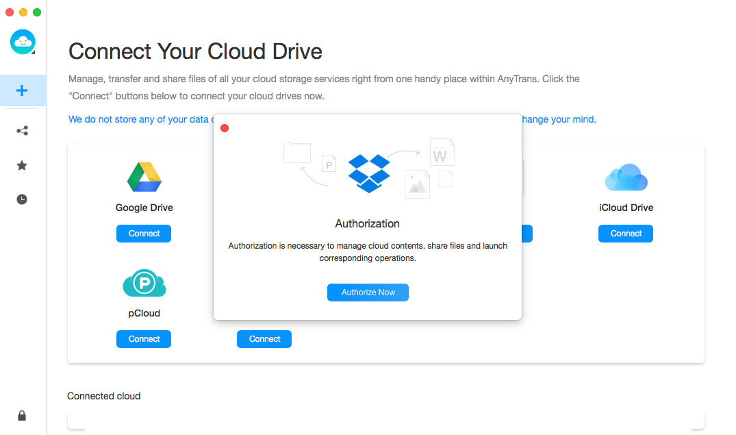 Getting Authorization from Dropbox