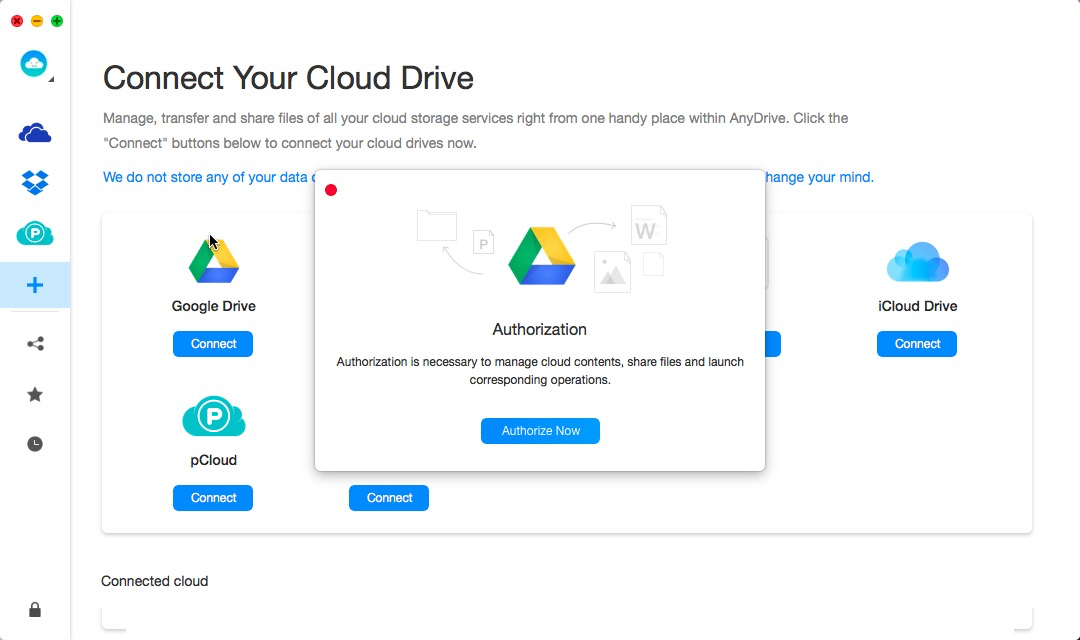 Getting Authorization from Google Drive