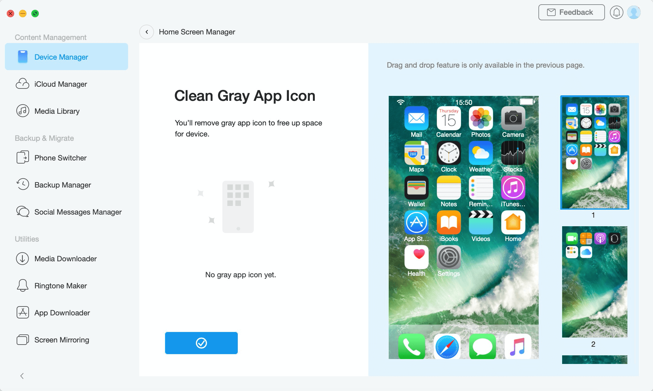 Finishing Cleaning Gray App Icon