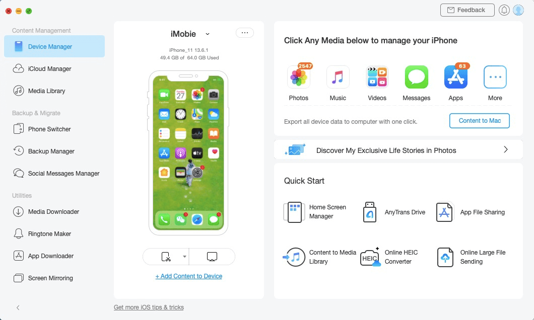 Connecting Your iOS Device