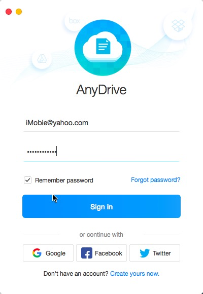 Sign in AnyTrans Account