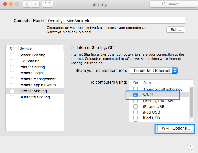 How to Enable Wi-Fi Hotspot Option on Mac - Step 2