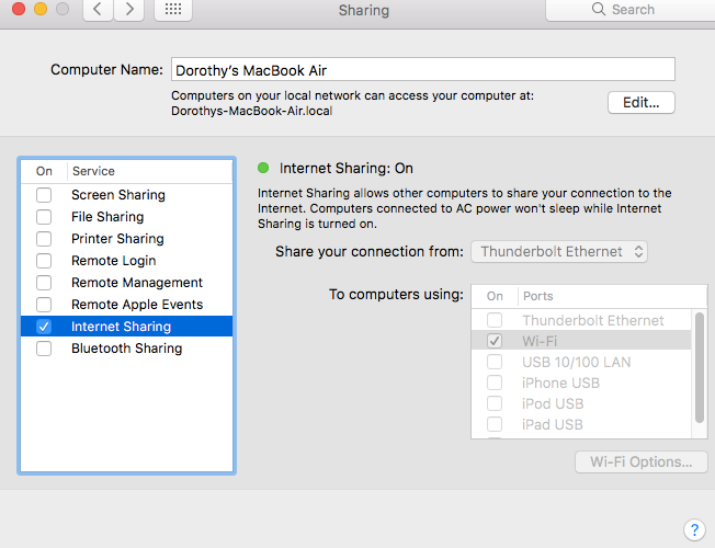 How to Enable Wi-Fi Hotspot Option on Mac-Step 4
