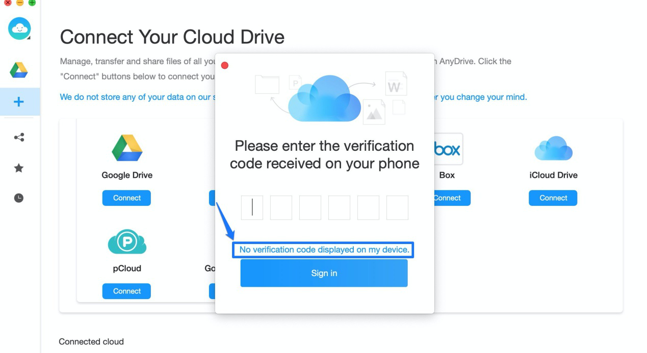 how to get a verification code and sign in with two-factor authentication on anydrive-6