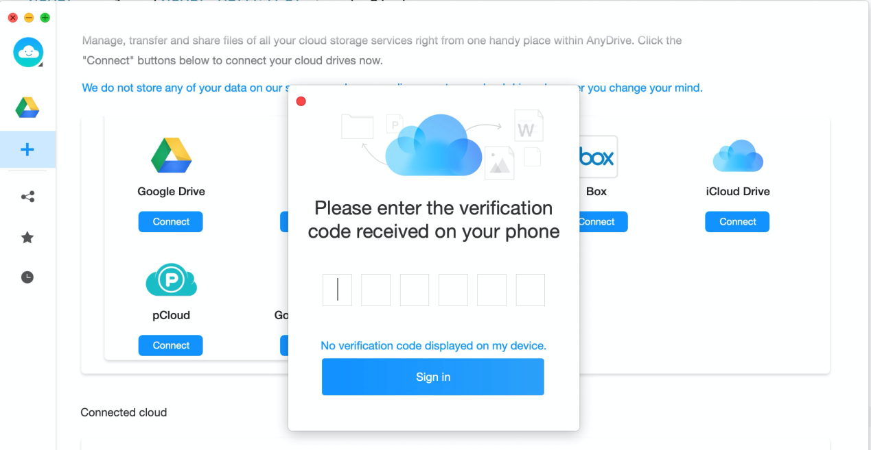 how to get a verification code and sign in with two-factor authentication on anydrive-7
