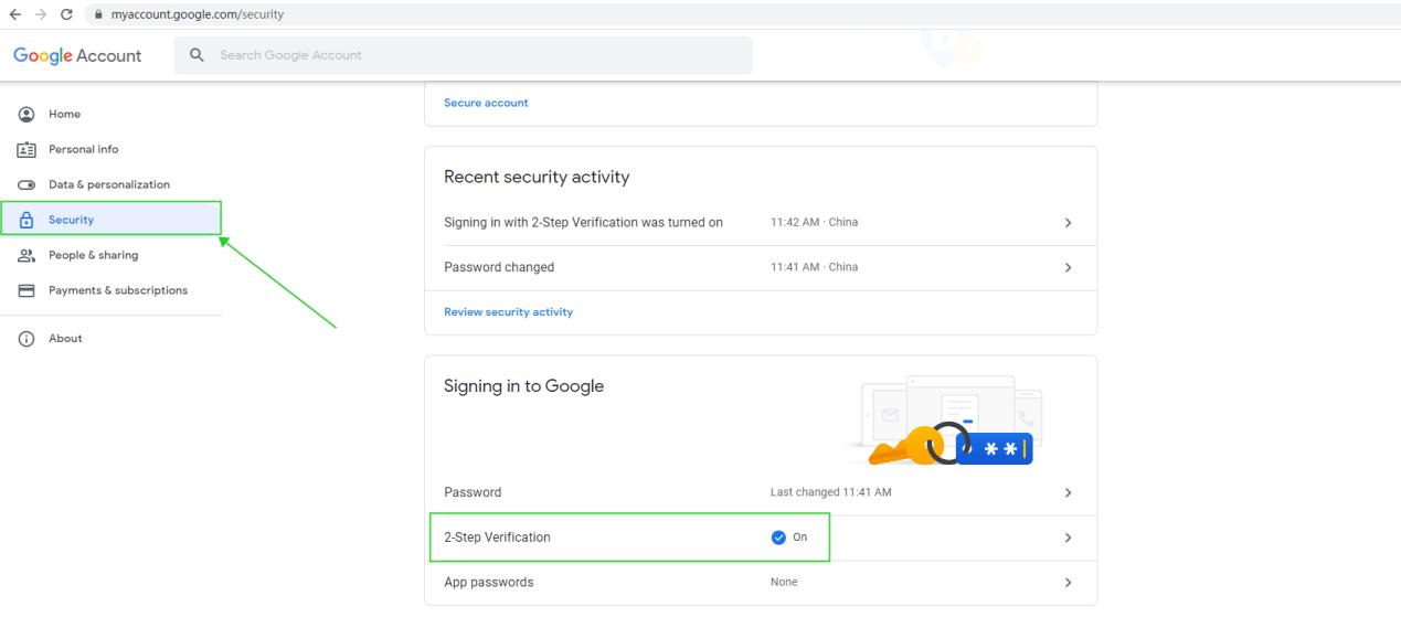 Select 2-Step Verification