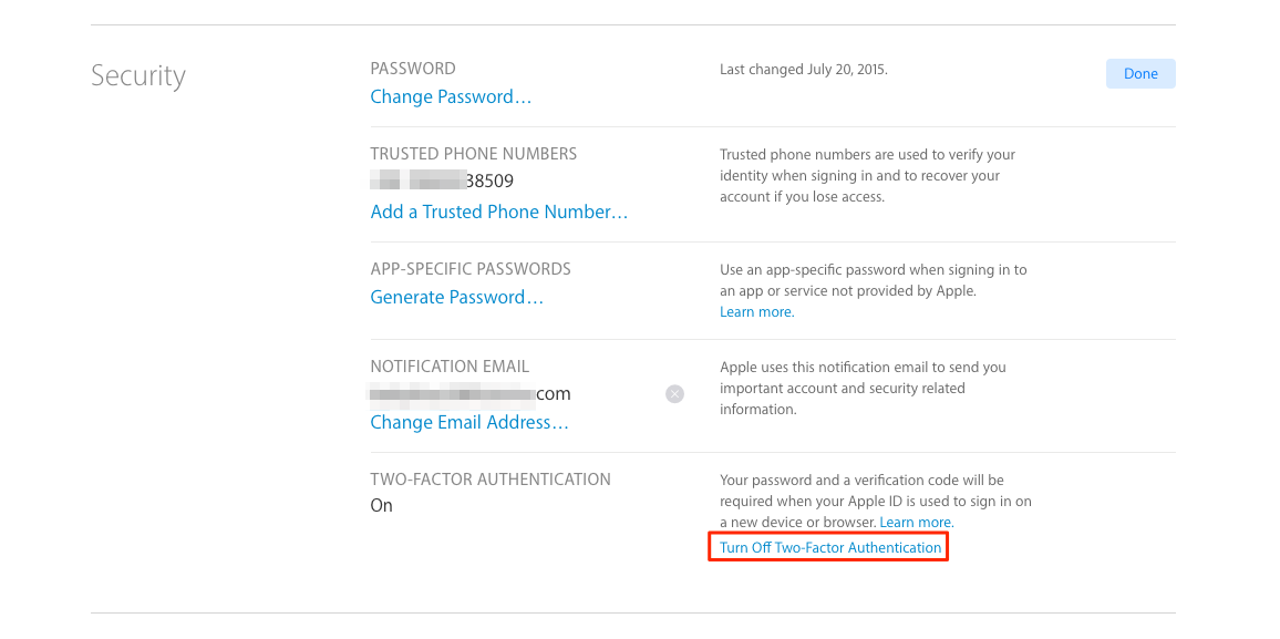 How to Turn Off Two Factor Authentication for Apple ID – Step 6