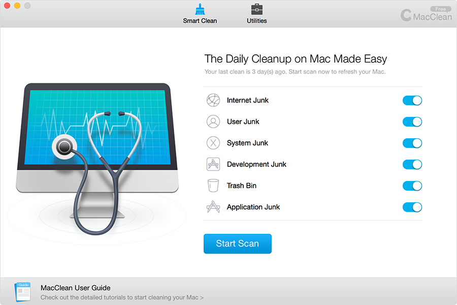 MacClean Main Interface, Smart Clean