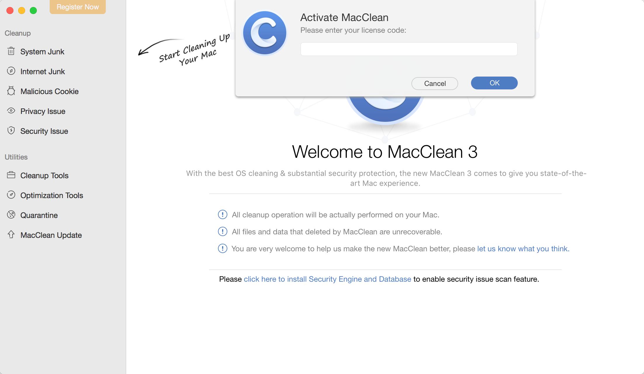 MacClean Activation