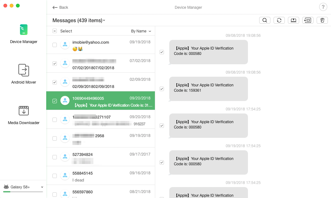Messages Management Page