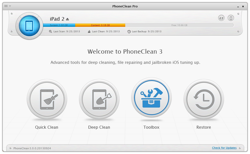 phoneclean pour iphone