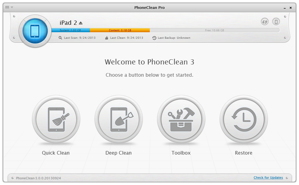 PhoneClean 3 Overview