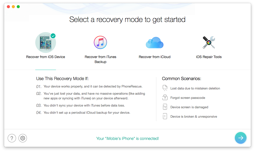 iPhone Data Recovery - Two Recovery Mode 1