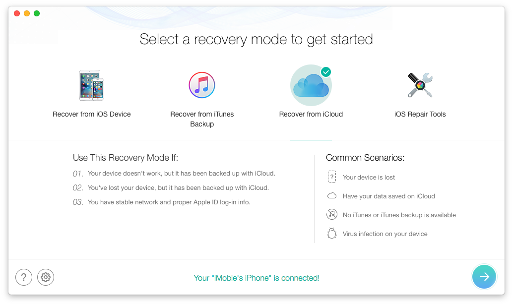 recover from the icloud
