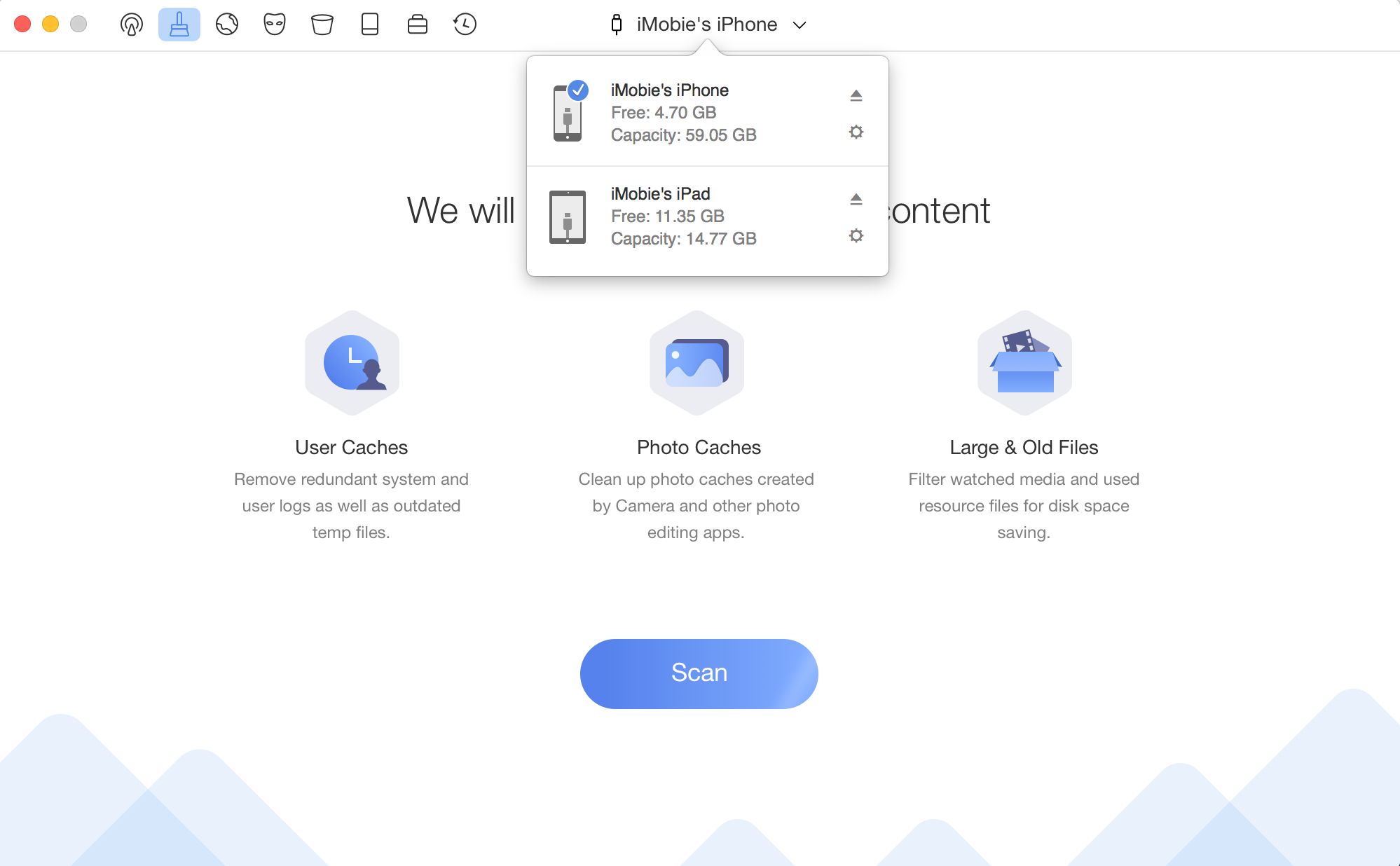 Device switch page