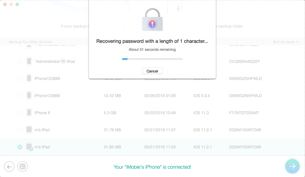 Recover from Encrypted iTunes Backup-Step 5