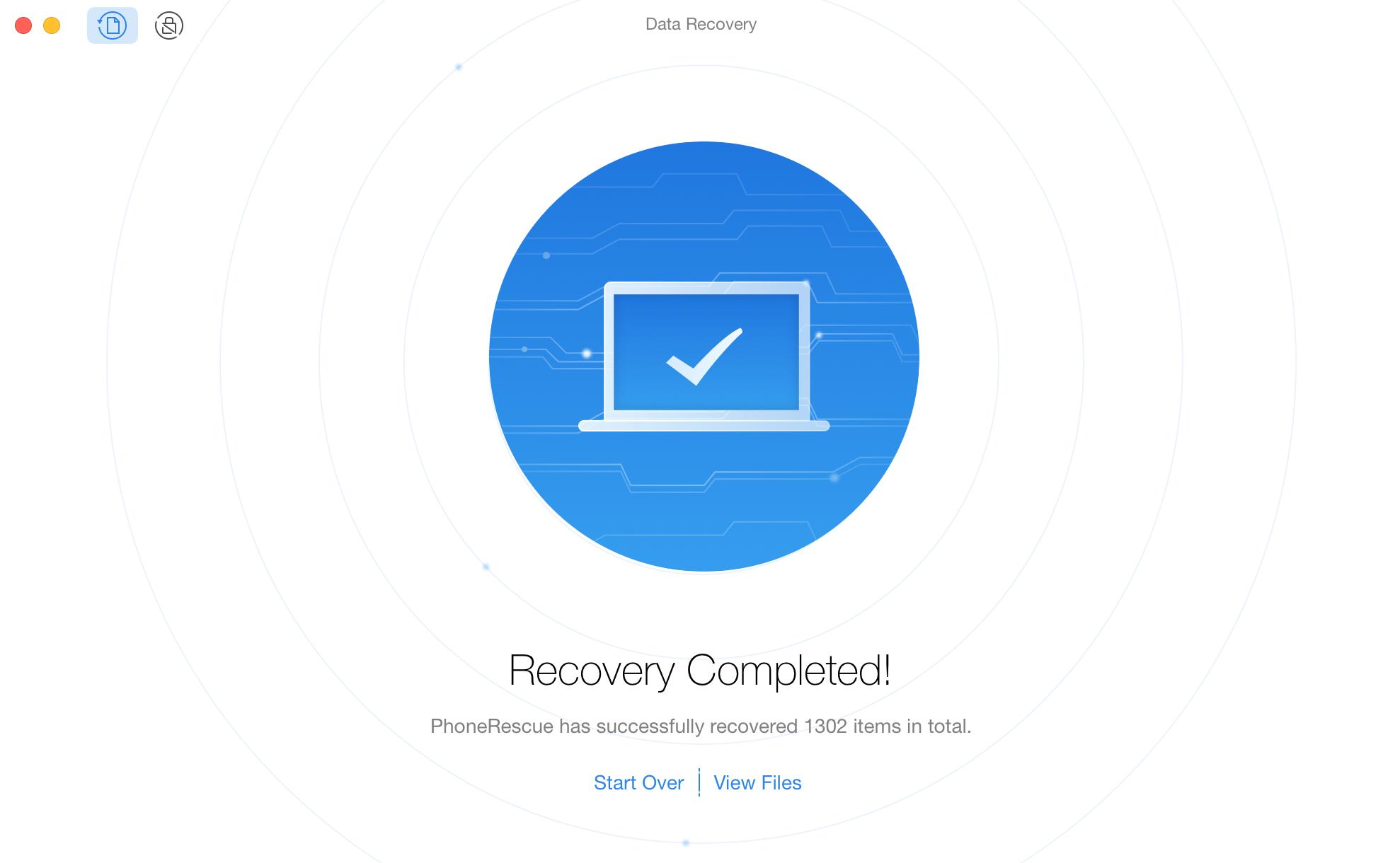 Finishing Recovery Process