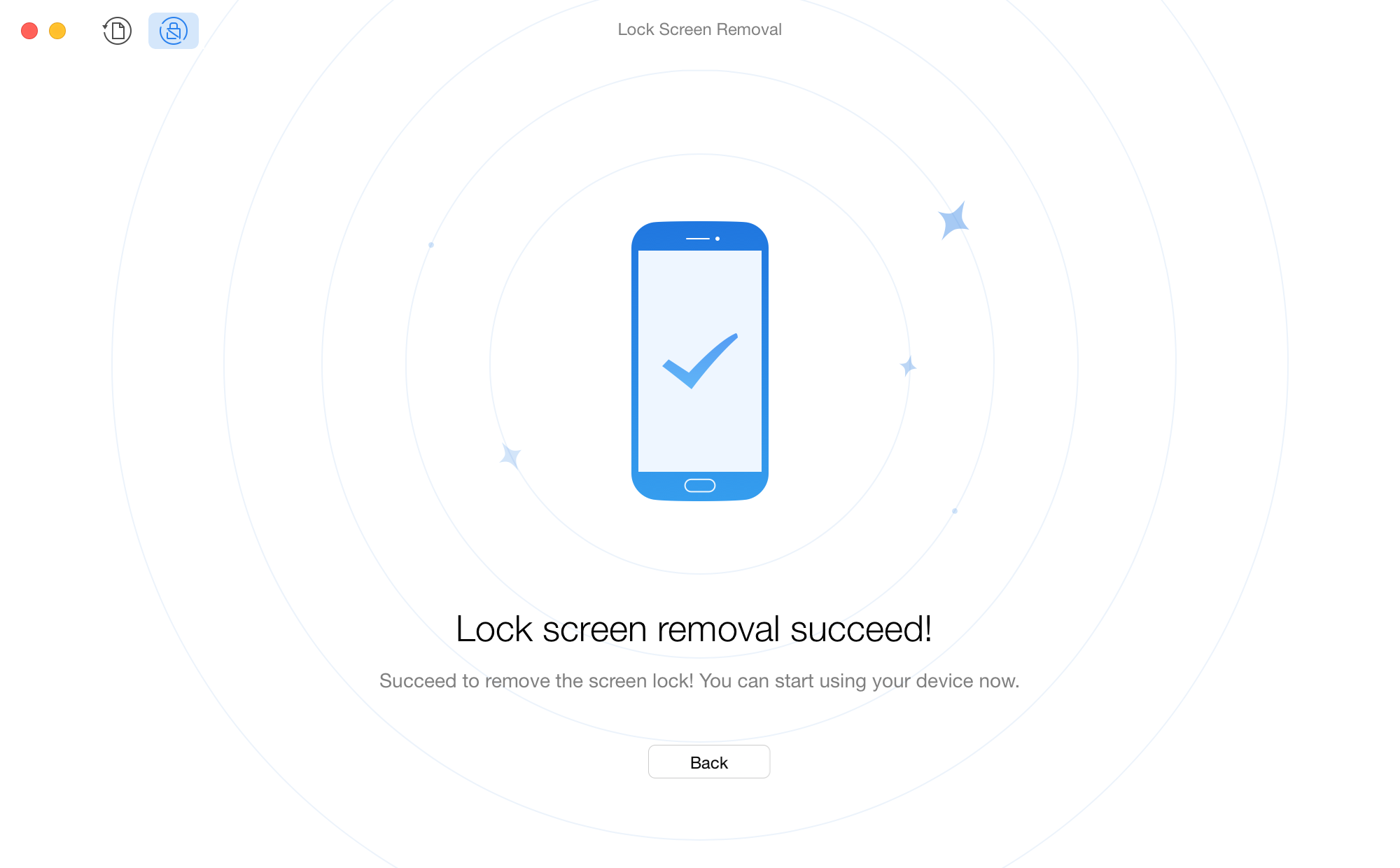 Screen Lock Removal Complete