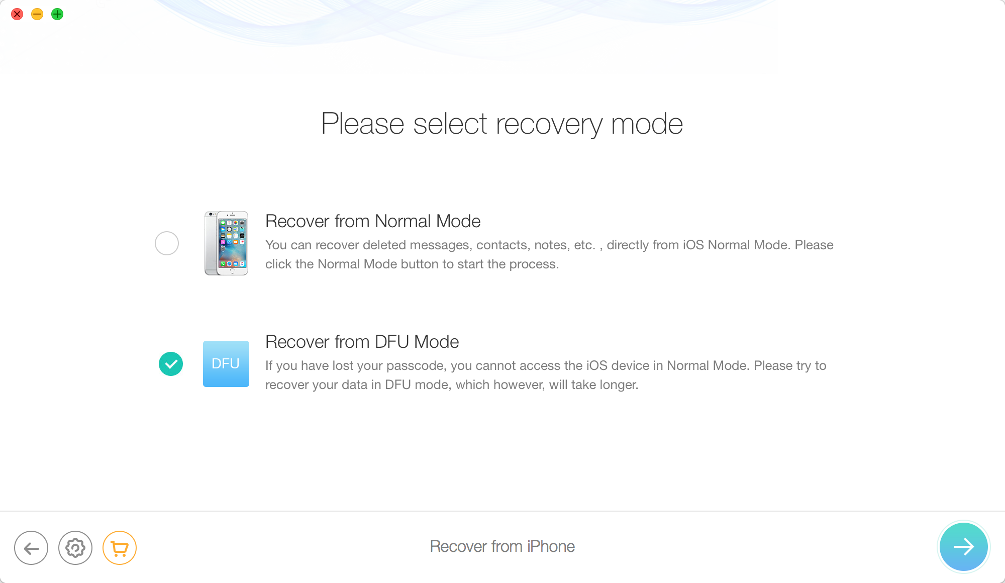 Enter dfu mode and scan for deleted photos How to Activate iPad without Apple ID and Password?