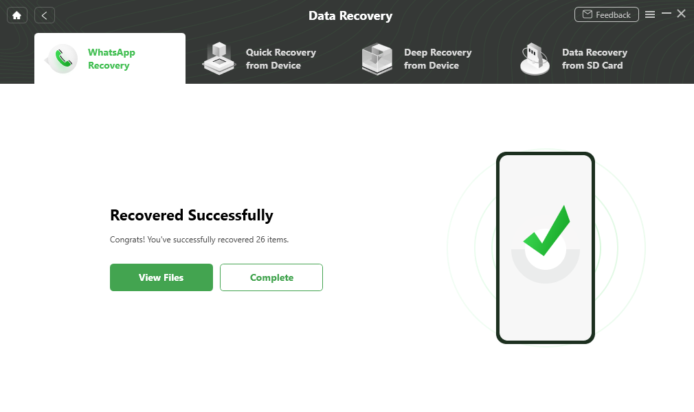 Recover the Deleted Data