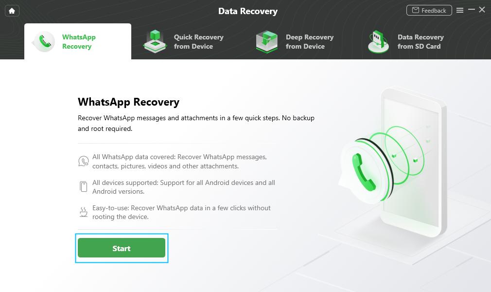 Start WhatsApp Recovery