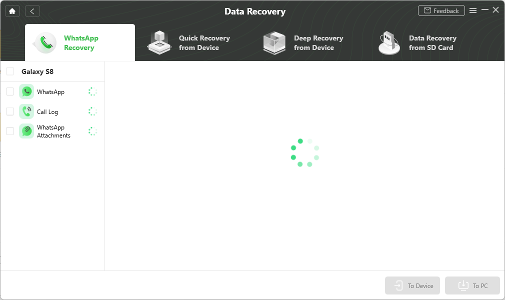 Scan the Deleted Data of WhatsApp