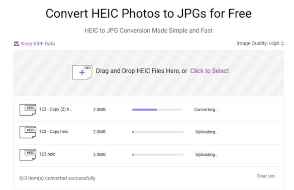 How to Batch Convert HEIC to JPG - Step 2