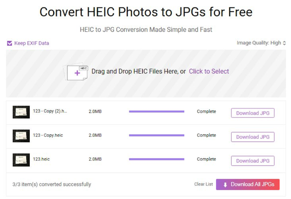 How to Batch Convert HEIC to JPG - Step 3