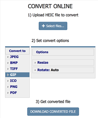 Convert HEIC to GIF using Coolutils