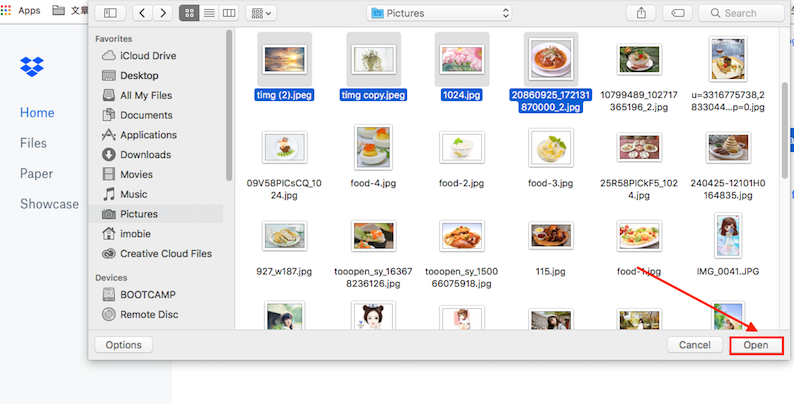 How to Upload HEIC Photos to DropBox - Step 3