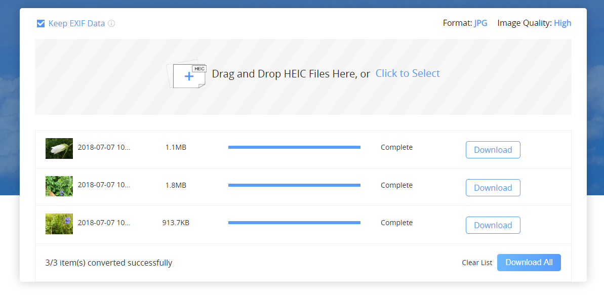 How to Convert DropBox HEIC Photos to JPG - Step 3