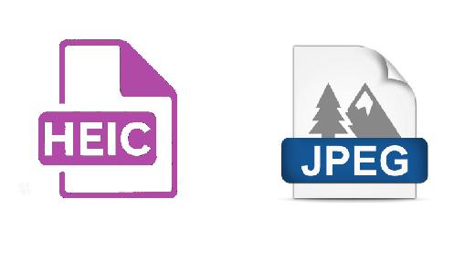 HEIC and JPEG