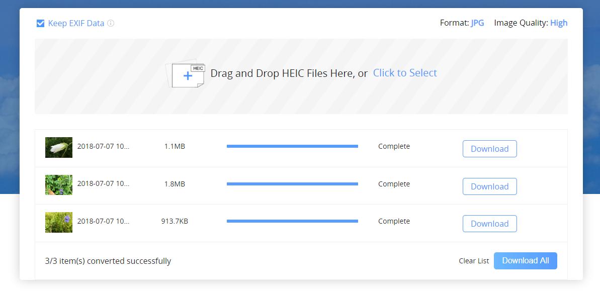 AnyGet HEIC Converter - Step 3