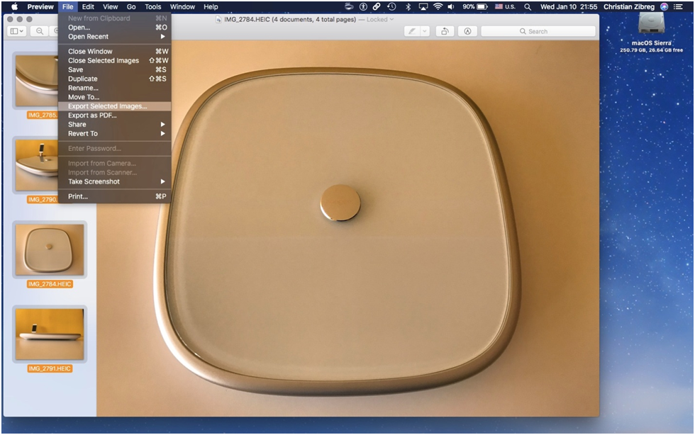How to Convert HEIC to JPG For Free on Mac via Preview App - Step 3