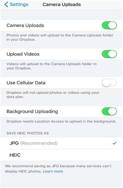 How to Convert HEIC to JPG For Free on Mac via DropBox