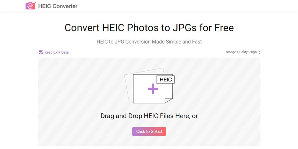 AnyGet HEIC Converter - Step 1