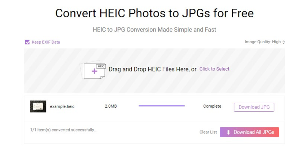 AnyGet HEIC Converter - Step 3
