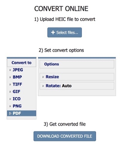 Convert HEIC to PDF using Coolutils
