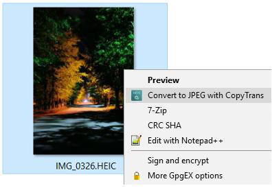 HEIC Converter #2 - CopyTrans HEIC for Windows