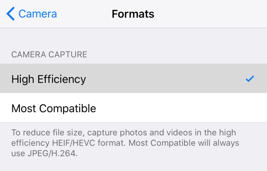 Choose Most Compatible as the Image File Format