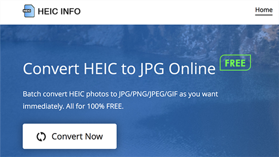 Launch the HEIC to JPG Conversion Tool