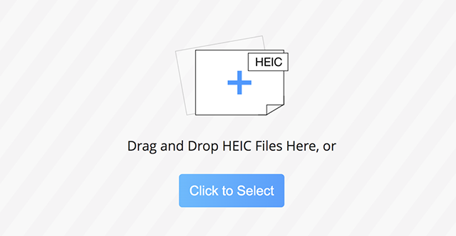 Upload your HEIC Photos to the Online Tool
