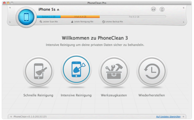 PhoneClean for Mac Screenshot