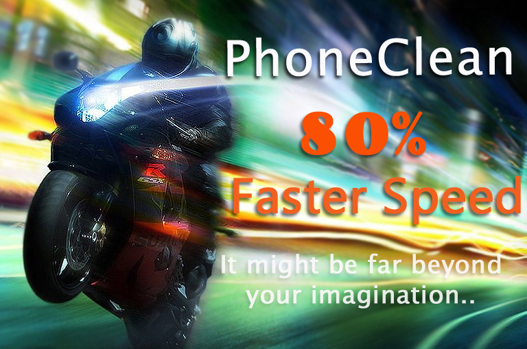 Dramatically Speedup on PhoneClean