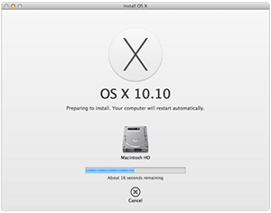 Mac OS X Yosemite Upgrade